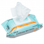 Sanitizing Wet Wipes, Fragrance Free, 80 pcs/bag, 12 bags/case, (960 Wipes)