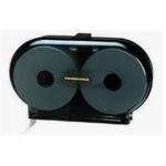 "9"" Black Jumbo Twin Bath Tissue Dispenser, Smoke Black (1 Each)"
