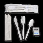 Kit, 6 Piece, Medium PP, White (250 Kits Per Case)