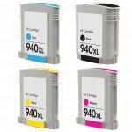 HP 940XL Magenta Ink Cartridge (C4908AN), High Yield (1,400 Yield), Compatible