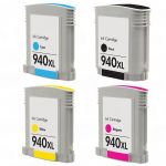 HP 940XL Black Ink Cartridge (C4906AN), High Yield (2,200 Yield), Compatible